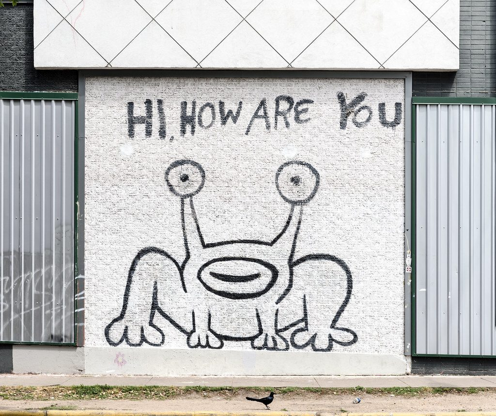 Hi, How Are You Mural