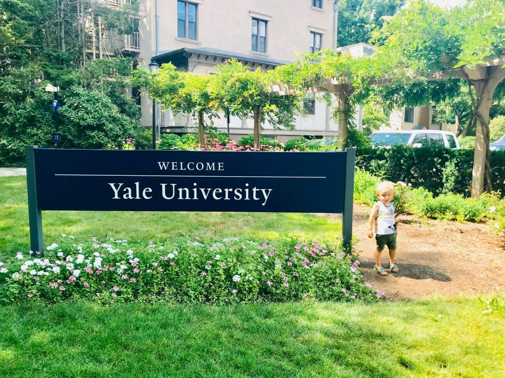 Yale University Welcome Sign