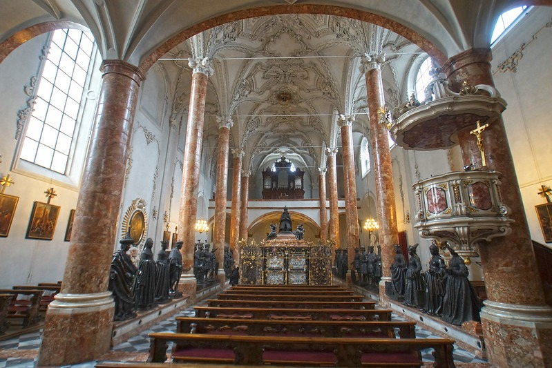 Hofkirche Tomb and Statues in Innsbruck